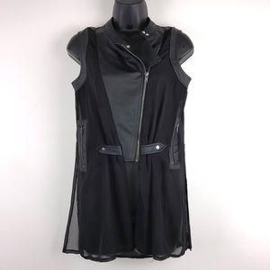 Rue 21 Faux Leather Sheer Vest